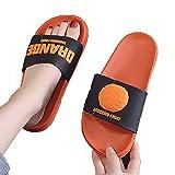 ZHIZI Chanclas Ladies Playa Ducha Ducha Slippers Summer Cool Water Ducha Deslizamiento Open Toe Family Bath Sandals (Color : Orange, Size : US11/EU43/UK8.5)