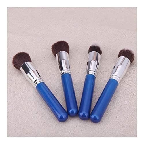 4pcs Bois Pinceau de Maquillage Kit cosmétiques Professionnels Set Argent Virole Rose de Pinceau Maquillage (Color : 1)