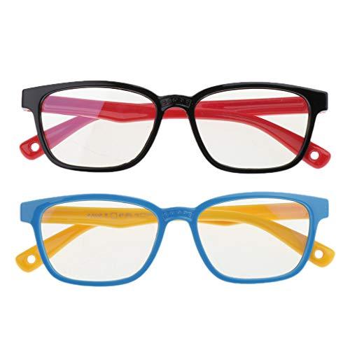Juego de 2 Gafas con Filtro de Luz Azul, Gafas para Ordenador, Gafas para Juegos, Antifatiga,