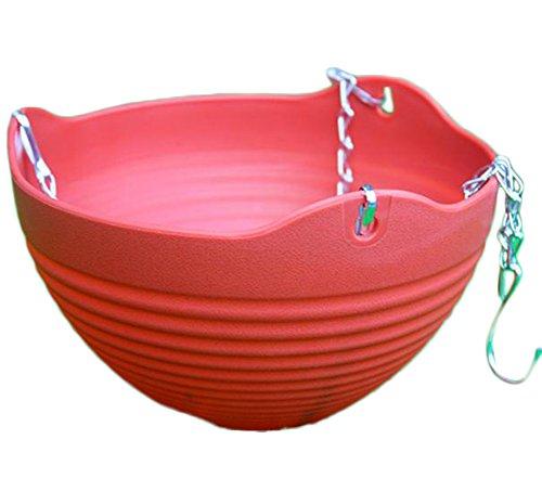 Pot en plastique par Outflower, pot à suspendre ou à poser, décoration de la maison, Plastique, Red, 13*20CM