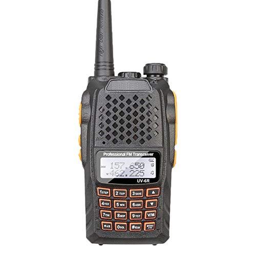 XAOBNIU 2 piezas de recargable walkie talkies de largo alcance radio de dos vías Walky Talky con el receptor de luz LED receptor Handheld for la supervivencia del campo Bicicleta Senderismo PMR446 8 c