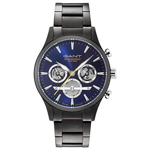 GANT Herren Analog Quarz Uhr mit Edelstahl Armband 7630043916865