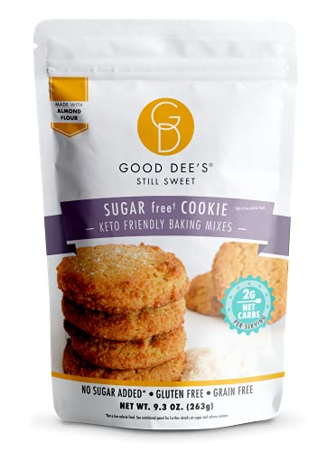 Good Dees Low Carb Baking Mix, Sugar Cookie Mix, No Sugar Added Keto Baking Mix, Gluten Free, Dairy-Free, Soy-Free, IMO-Free, Diabetic, Atkins & WW Friendly (2g Net Carbs, 12 Servings)