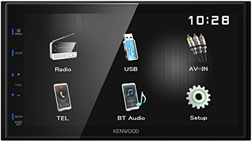 Kenwood DMX110BT 17, 3 cm WVGA Digital Media Receiver mit Bluetoothmodul Schwarz
