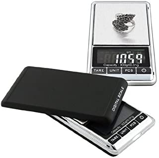 Mini Digital Jewelry Scale,High Precision Pocket Grams Weigh reloading Scale 300g/0.01g with LCD Blacklight for General Laboratory, Commercial, and Educational use