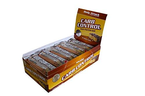 CARB CONTROL [15 barrette da 100gr] - BODY ATTACK (45g. di proteine per barretta) (nocciola)