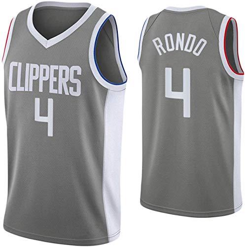 BMSGM Jerseys para Hombre-NBA Los Angeles Clippers # 9 Rajon Rondo Camiseta De Baloncesto Sin Mangas Camiseta Deportiva, Malla De Tela Transpirable,A,XL(180~185CM/85~95KG)
