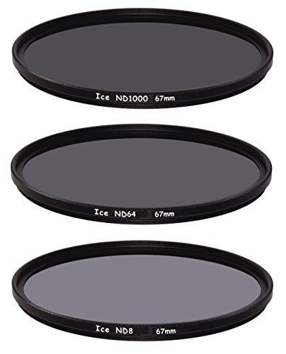 ICE ND1000 ND64 ND8 - Juego de filtros finos de 67 mm, densidad neutra 67 10, 6, 3 toques de cristal óptico