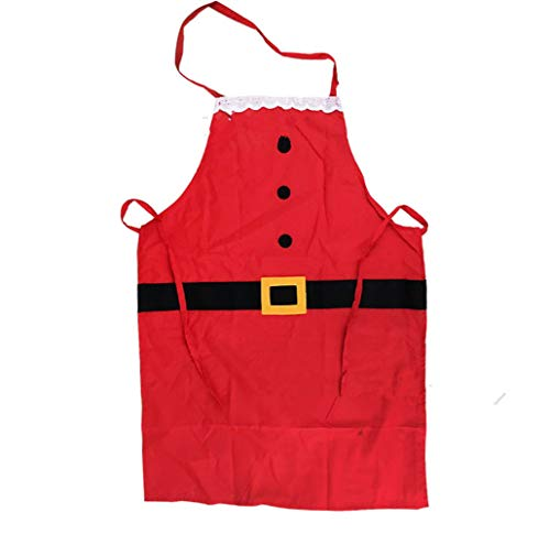 FuSi Red Santa Aprons Family Aprons Party Aprons (Children)