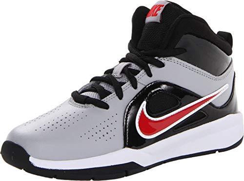 Nike TEAM HUSTLE D 6 (PS) WOLF GREY/UNIVERSITY RED-BLACK, Größe Nike:10.5C