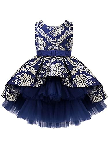 dPois Vestido Princesa Niña Flores Vestido Fiesta de Tul Vestido Bautismo Encaje...