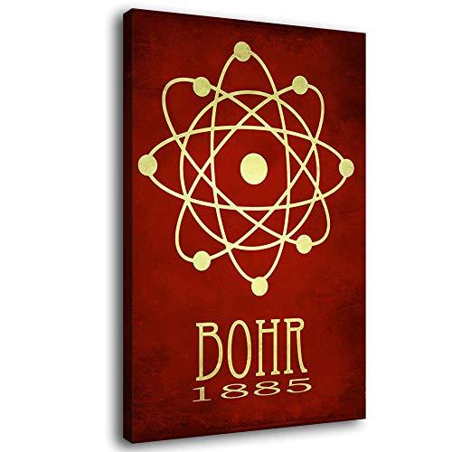 Póster de física para pared, diseño de Niels Bohr Science Poster Lienzo para regalo físico y estructura atómica
