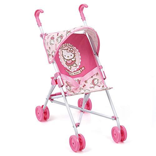 Hauck Toys for Kids Puppenbuggy Go-S - leichter, faltbarer Puppenwagen mit Sonnenverdeck - Hello Kitty Edition - Rosa