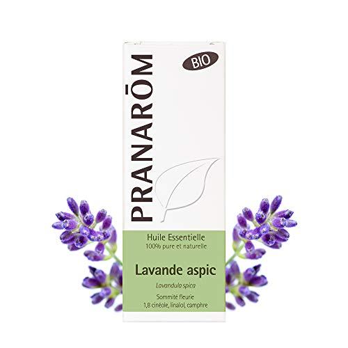 Pranarôm | Huile Essentielle Lavande Aspic Bio | Lavandula latifolia | Sommité Fleurie | HECT | 10 ml