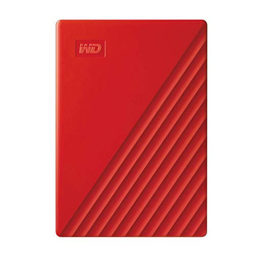 WD 2 TB My Passport Portable Hard Drive with Password Protection and Auto Backup Software - Red - Works with PC, Xbox and PS4