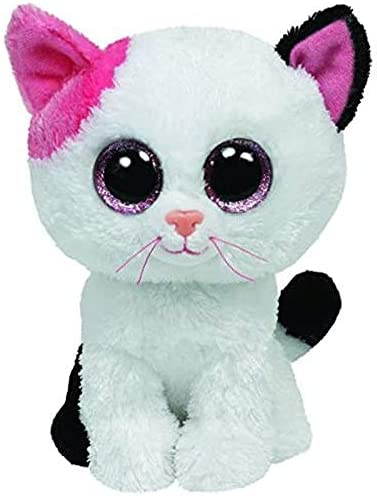 JJLZS Ty Beanie Animals Muffin The White Cat Plush Toy 15cm product image