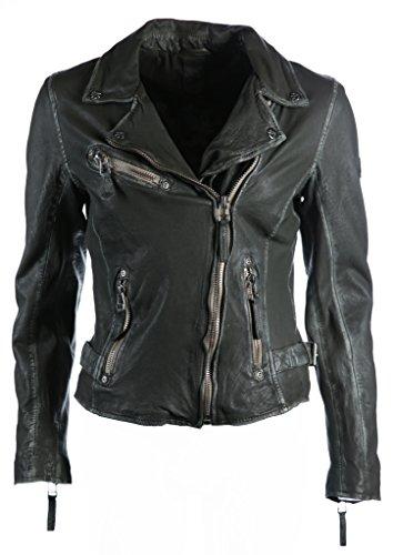 Gipsy Mauritius Damen Lederjacke Bikerjacke Jacket Perfecto S17 LULV - Olive (XS)