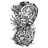Etiqueta engomada del tatuaje Impermeable Color duradero Animal Alas negras Hombres Mujeres Cuerpo Brazo Pierna Arte Figura Tatuaje Etiqueta 10 piezas