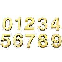 (2PCSのパック)Aspire 10.16cm Hのドア ハウス ホテル番号 住所サイン 自己接着性バッキング付きの数字(0-9) - ゴールド - 7