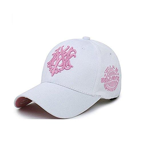 Ever Fairy 帽子 ぼうし 刺繍 キャップ ハット メンズ レディース 男女兼用 ストリート 大きいサイズ ロゴ ゴルフ (ホワイト-大人)