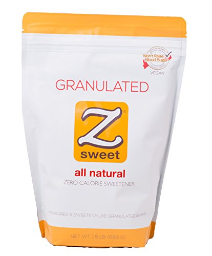 Z SWEET All Natural Zero Calorie Sweetener – Granulated 24 Oz. Non-GMO, Gluten-Free, No Glycemic Impact Erythritol Sugar Alternative – Perfect for Diabetic, Keto, Atkins, Paleo, and Low-Carb Diets