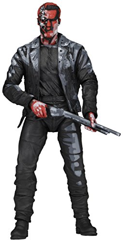 NECA NECA51910 - Terminator 2-Judgment Day T-800 Video Game Appearance Action Figur Ultimate Body, 18 cm