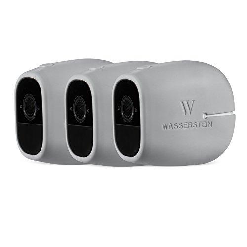 3 x Silikon Skins kompatibel mit Arlo Pro & Arlo Pro 2 Smart Home Security 100% drahtlose Kameras - von Wasserstein