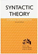 [(Syntactic Theory: A Formal Introduction)] [Author: Ivan A. Sag] published on (September, 2003)