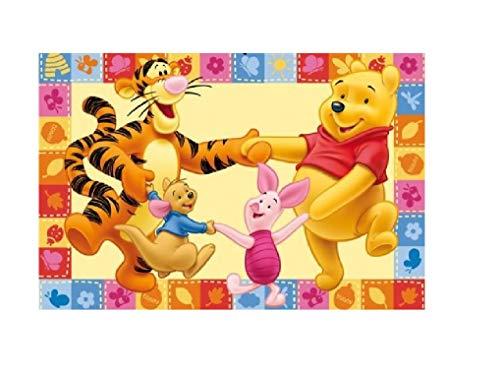 Kinderteppich / Babyteppich / Baby Teppich / Winnie the Pooh mit Tigger und Ferckel / Kinder Teppich ca. 170 x 100 cm Designer Teppich Kinderteppich Teppich moderner Kinderzimmer Teppich