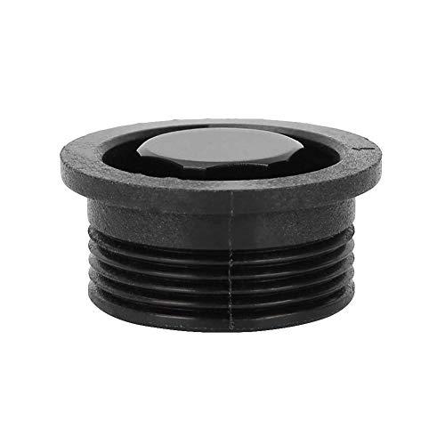 Alomejor - Rejilla de ventilación para Tabla de Surf (3 x 1,5 x 2,5 cm), Color Negro