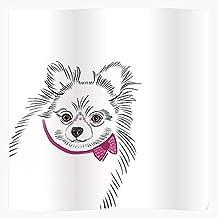 Pomeranian Dog Art Puppies Pup Line Dogs Pets El mejor y más nuevo póster para la sala de decoración del hogar de arte de pared