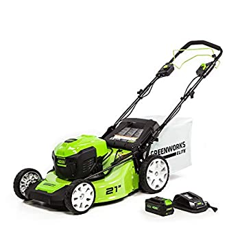 Greenworks 40V 21-Inch Brushless Self-Propelled Mower 6AH Battery and Charger Included M-210-SP