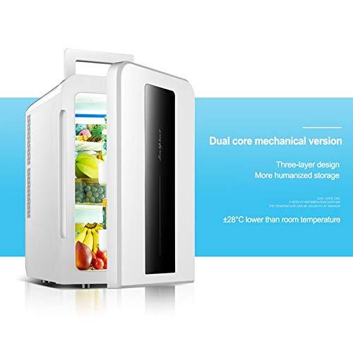 LIXUDECO Mini Nevera 22L CNC Dual-Core Coche/Home Refrigerador Mini refrigerador con Doble Puerta Dormitorio Estudiante Pequeña Nevera DC12V / AC220V 1pc (Color : Mechanical Version)