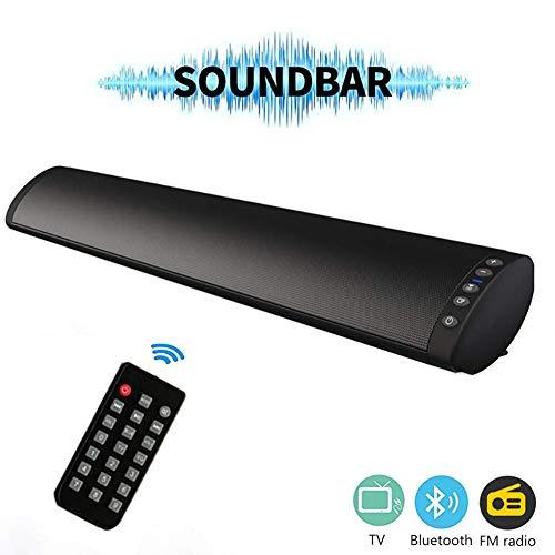 ZJZ 5.0 Altavoz Bluetooth TV Barra de Sonido TV Estéreo Envolvente 3D Calidad de Sonido Altavoz Radio FM para Sonido portátil Video