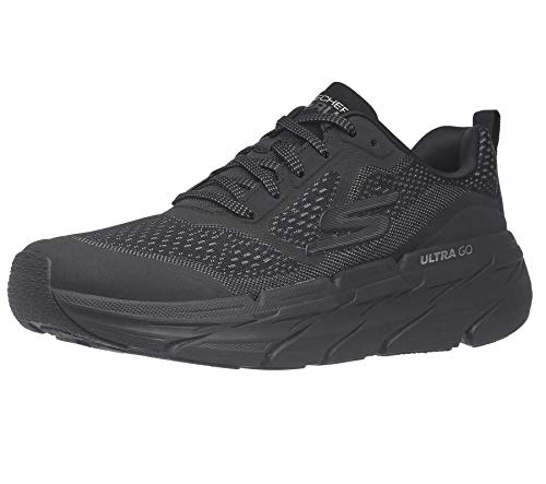 Skechers Men's Max Cushioning Premier Vantage-Performance Walking & Running Shoe Sneaker, Black/Charcoal, 11