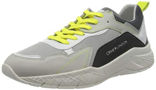 Crime London Herren KOMRAD Sneaker, Grey, 42 EU