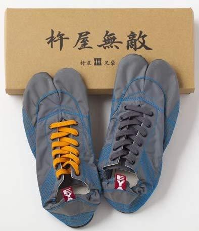 ランニング足袋KINEYAMUTEKIきねや無敵メンズグレー(25.5)