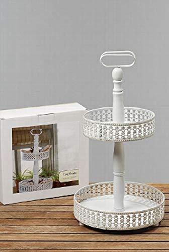 Home Collection Maison Cuisine Vaisselle Plats de Service Présentoirs à Gâteau 2 Étages