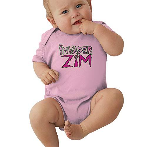 Johnson Hop Invader Zim Gir Baby-Strampler, kurzärmelig, für Neugeborene, Mädchen, Jungen, rose, (0-3M)UK