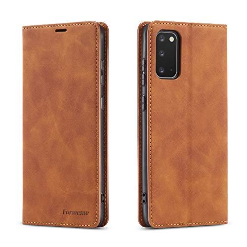 FMPC Funda Compatible Samsung Galaxy A71, Billetera Cuero Libro Caso Soporte Plegable Ranuras para Tarjetas Magnético Ultra-Delgado PU Carcasa Case para Samsung Galaxy A71 (Amarillo)