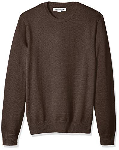 Amazon Essentials Men's Crewneck Sweater, Brown Heather, Large