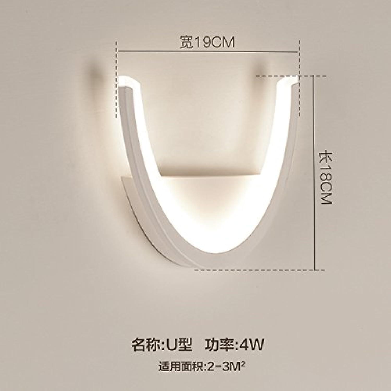 StiefelU LED Wandleuchte nach oben und unten Wandleuchten Wandleuchte Wohnzimmer Schlafzimmer Flur durch Wnde licht Treppenlicht-zeitschalter Nachttischlampe Led, G