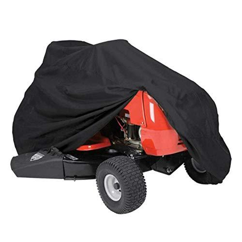 Patgoal Rasenmäherabdeckung, Familienzubehör, wasserfest, schwarz, für Rasenmäher, strapazierfähig, UV- und wasserfeste Abdeckung für Ihren Garten-Traktor XS