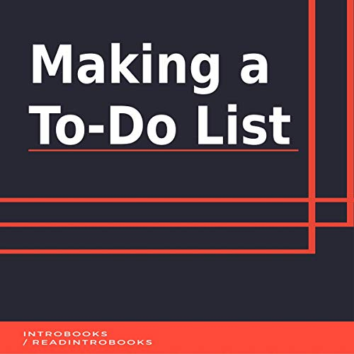 Making a To-Do List cover art