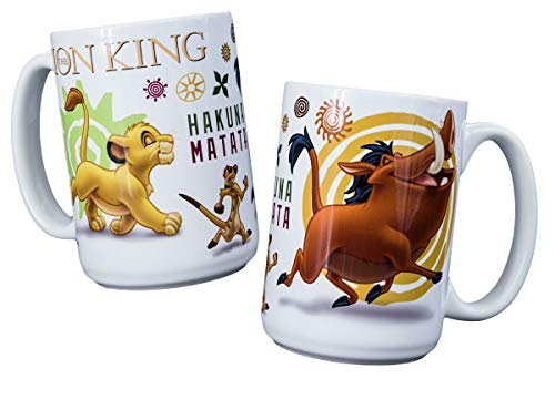 Disney Character Collectible Mugs - Set of 2 - 15 Oz (Lion King)