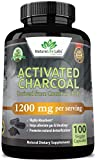 Activated Charcoal Capsules - 1,200 mg Highly Absorbent Helps Alleviate Gas & Bloating Promotes...