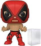 Deadpool El Chimichanga De La Muerte Pop #712 Pop Marvel Luchadores Vinyl Figure (Bundled with EcoTek Protector to Protect Display Box)