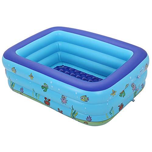 Bañera de Baño para Bebés y Niños, Piscina Cuadrada Hinchable para Niños, Piscina Gruesa para Jugar en el Agua,130CM