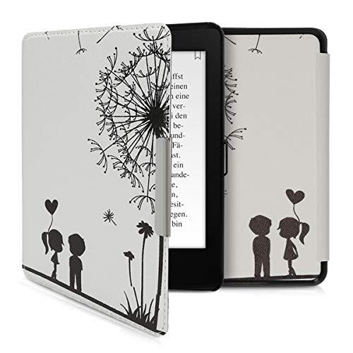kwmobile Carcasa Compatible con Amazon Kindle Paperwhite (10. Gen - 2018) - Funda para Libro electrónico con Solapa - niños y Diente león