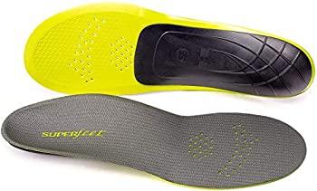 Superfeet Carbon Pain Relief Strong and Thin Insoles for Performance Athletic and Tight Casual Shoes Gray 9.5-11 Men / 10.5-12 Women